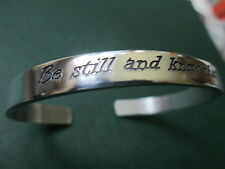 The Be still and know that I am God… Bracelet Engraved solid sterling silver