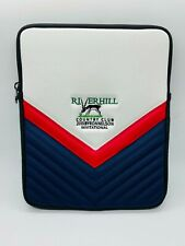 River Hill Country Club Leather Nylon Embroidered Zip iPad Case Pouch Tote Bag
