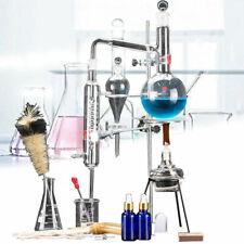 500ml Labor ätherisches Öle Destillationsgerät Wasserdestilliergerät Glasgeräte