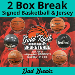 MEMPHIS GRIZZLIES autographed Gold Rush basketball + signed jersey: 2 BOX BREAK