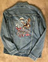 LEVIS Trucker Jacket Eagle Embroidered MENS NEW Mount Fugi Japan Jean Denim
