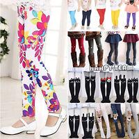 2~12Y Girl Children Kid Winter Warm Thick Fleece Leggings Stretch Trousers Pants
