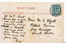 Genealogy Postcard - Family History - Wyatt - Ivy Bridge - South Devon   BE970