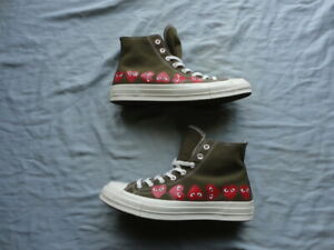 Converse Chuck Taylor All-Star Comme des Garcons Play Shoes Size 10 (162973C)