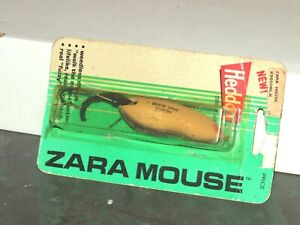 HEDDON ZARA MOUSE FISHING LURE ON CARD