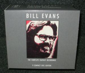 BILL EVANS  -  the complete Fantasy recordings - Box 9 CD's