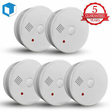 5-Year Smoke Detector Fire Alarm Battery Operated Home Fire Safety Alert Warning