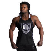 4XL Bodybuilding und Fitness Bekleidung Herren schwarz // rot Gorilla Wear Nashville Tank Top