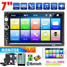 """7"""" 2Din Car Stereo Radio HD MP5 Player Android IOS Touch Screen USB/TF + Camera"""