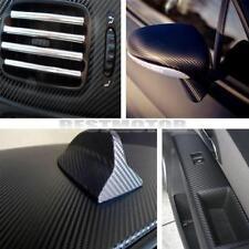 CARBONE 3D Brillant Noir 30 x 20cm Adhésif Film Auto / Moto Tableau de bord ...