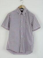 GANT BEL AIR HEATHER POPLIN REGULAR FIT Men L Button Down S/s Thin Shirt 26217_S