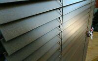 NEW REAL WOOD 25MM BASSWOOD VENETIAN BLINDS 76.5CMS X 107CM DARK WOOD BLIND