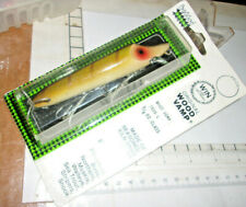 HEDDON WOOD PAINTED EYE SURFACE - RIG VAMP FISHING LURE IN PERCH 9L L RARE PACK