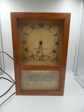 1961 Yale Presentation Clock Eli Terry Style Wooden Mantle Clock Vintage HTF Rar