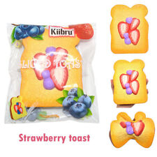 Kiibru Squishy Strawberry Toast Scented Slow Rising Simulation Bread Gift Toys