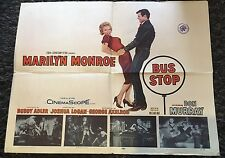 BUS STOP 1/2sh '56 great art of sexy smiling Marilyn Monroe Don Murray!