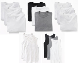 Old Navy Men's Crew or V Neck T-shirt or Tanks - 3 Pack White or Multicolor NWT