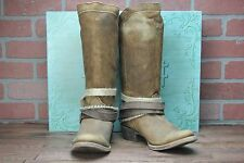 Corral for Buckle Women's LD Brown Vintage Leather & Straps Boots CB012 - 7.5 M