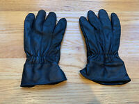 Men's Black Genuine Pebbled Leather 100% Acrylic Fleece Lined Gloves