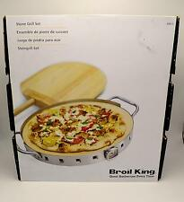 """Broil King 69815 Pizza Stone Grill Set 13"""" New"""