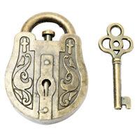 Vintage Métal Coulé God Lock Key Puzzle Jouet Iqandeq Esprit Casse-Tête Sou T6Y6