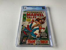MARVEL TALES 27 CGC 9.4 KRAVEN THE HUNTER THOR SPIDER-MAN MARVEL COMICS 1970