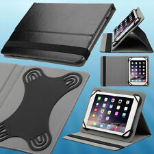 "Black Universal Tablet Flip Leather Folio Case Stand Cover for 7.9"" 8"" Tablets"