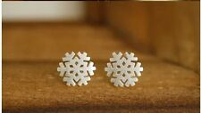 925 sterling silver snowflake studs earrings kids/women