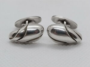 GEORG JENSEN Sterling Silver 925 Cufflinks #148 Denmark