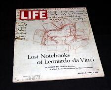 LIFE MAGAZINE MARCH 3 RD 1967 LEONARDO DA VINCI LOST NOTEBOOK