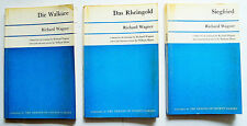 1964 3 WAGNER LIBRETTOS Walkure Rheingold Siegfried Friends of Covent Garden VGC
