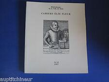 Bibliothèque ville de Metz cahiers Elie Fleur voir sommaire en photo n° 15 1997