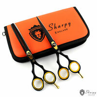 "6"" Professional Black Pet Dog Cat Grooming Scissors Cutting Thinning Shears Set"
