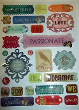 K & Company Clearly Yours Epoxy Stickers **JUBILEE WORD