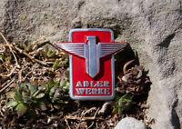 VERY NICE VINTAGE AUTOMOBIL CAR EMBLEM / BADGE # ADLER WERKE FRANKFURT