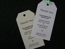 12 Personalised Charity Donation Gift Tag With Diamante in White or Ivory