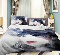 3D Elegant Lady Bedroom KEP003 Bed Pillowcases Quilt Duvet Cover Kay