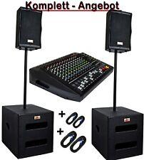 DJ PA Musikanlage BANDANLAGE komplett ANLAGE 5600 WATT max. w15/1200