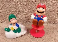 Vintage 1989 Nintendo Mario Bros. Raccoon Tail, Luigi Spring Pop Up Toys B