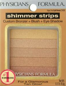 NIB Physicians Formula Shimmer Strips Bronzer Blush Shadow Vegas Strip 2456