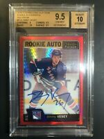 2016-17 O-Pee-Chee Platinum Jimmy Vesey Red Prism Rookie Auto /50 BGS 9.5