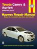 Haynes Workshop Manual Toyota Camry & Toyota Aurion 2006-2013 Service & Repair