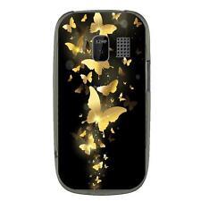 Coque souple pour Nokia Asha 302 avec impression Motifs papillons dorés