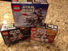 NEW LEGO STAR WARS Microfighters 75072 75075 75076 MINIFIGURES Lot AT-AT Gunship