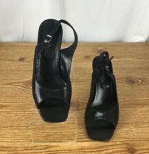Nicole Miller square toe sandals Black Sandals 9 M embossed snake skin