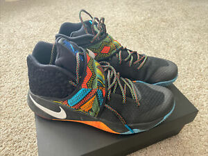 Nike Mens Kyrie 2 BHM Black History Month 828375 099 Black/ Multi-Color Size 11