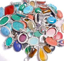 Amethyst & Mix Gemstone Wholesale Lot 100Pcs 925 Sterling Silver Overlay Pendant