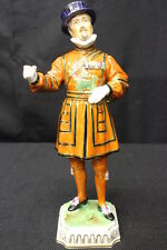 Antique Dresden Porcelain YEOMAN OF THE GUARD Beefeater Figurine 10 1/2""
