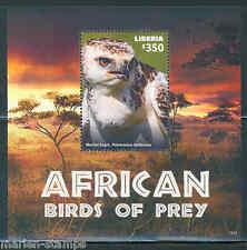 LIBERIA  2015 AFRICAN BIRDS OF PREY SOUVENIR SHEET    I  MINT NEVER HINGED