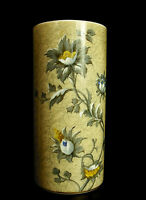 Vase Roll Decor Floral in Opaline, Years 1900 H: 24,5 cm 1; 6 kg C 1900